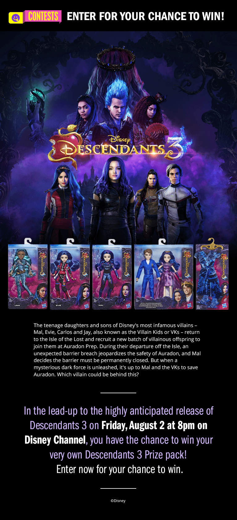 Descendants 3 - Enter | Disney Channel Contest